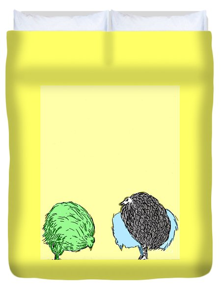Chickens Three Duvet Cover