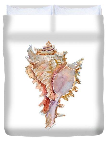 Chicoreus Ramosus Shell Duvet Cover