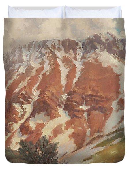 Chief Joseph Mountain Duvet Cover