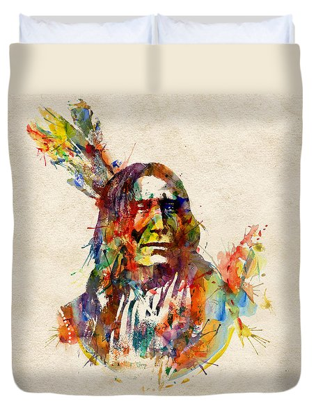 Chief Mojo Watercolor Duvet Cover