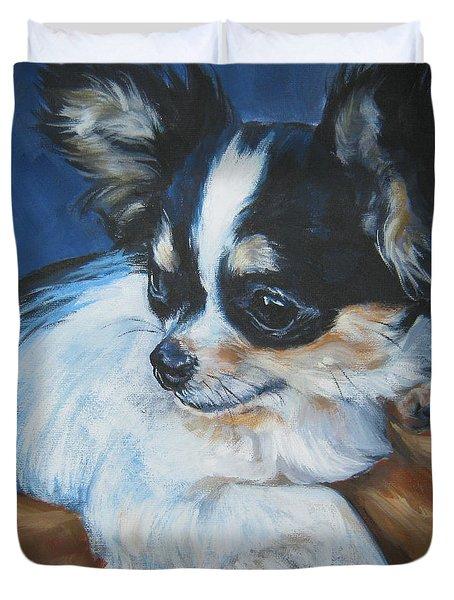 Chihuahua Duvet Cover by Lee Ann Shepard