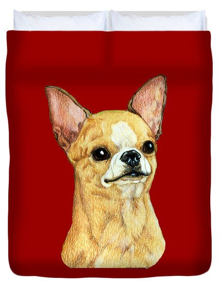 Chihuahua, Smooth Coat Duvet Cover