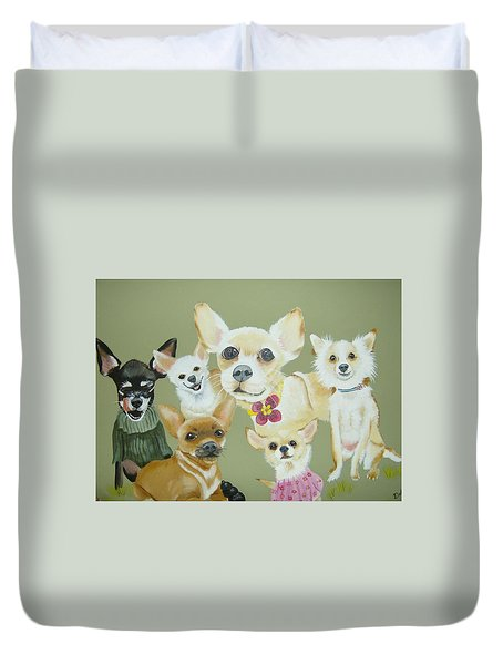 Chihuahuas Duvet Cover