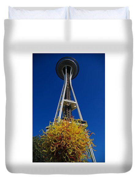 Seattle Space Needle Duvet Cover