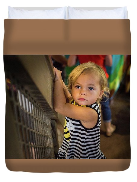 Duvet Cover featuring the photograph Child In The Light by Bill Pevlor