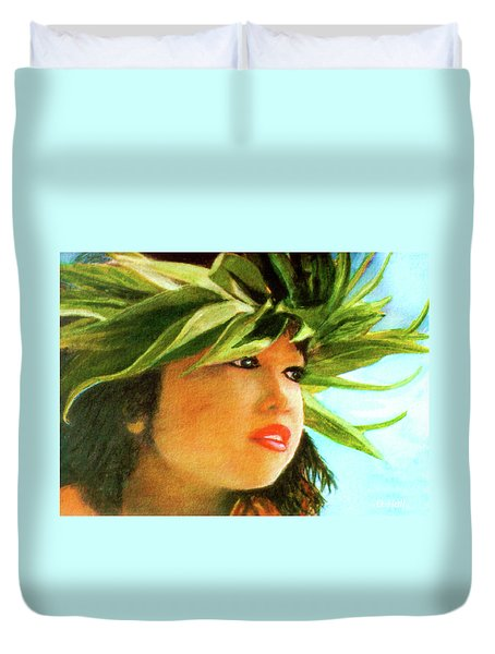 Child Keiki In Hawaiian No# 84 Duvet Cover by Donald k Hall