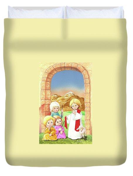Child Shepherds Duvet Cover