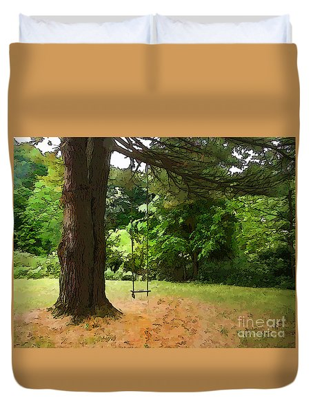 Childhood Duvet Cover by Betsy Zimmerli