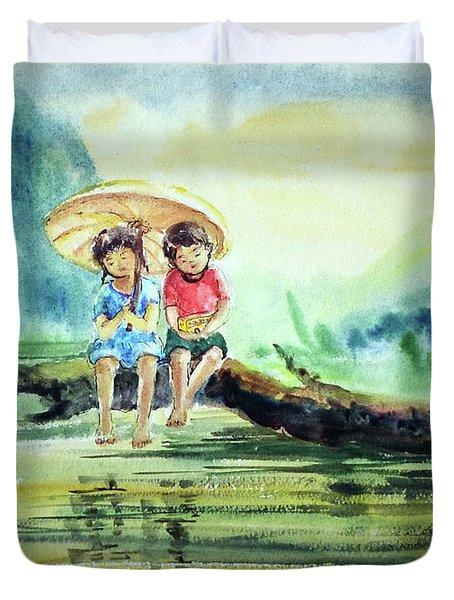 Childhood Joys Duvet Cover