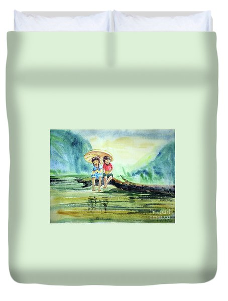 Childhood Joys Duvet Cover