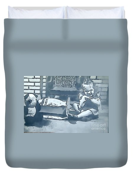 Duvet Cover featuring the photograph Childhood Memories by Linda Phelps