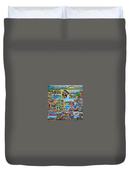 Childhood Memories Of My Mother Country Pilipinas Duvet Cover