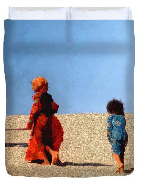 Children Of The Sinai Duvet Cover by Kurt Van Wagner