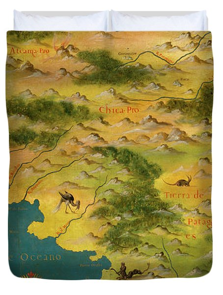 Chile And Argentina With The Magellan Strait Duvet Cover