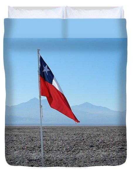 Chilean Flag Duvet Cover