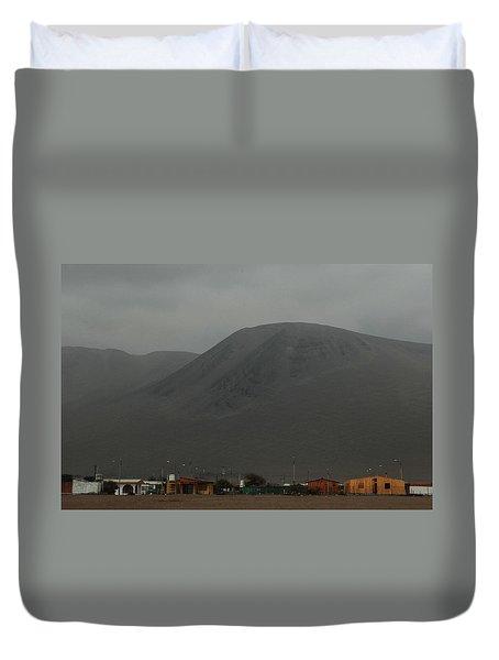 Chilean Village In Atacama Desert Duvet Cover
