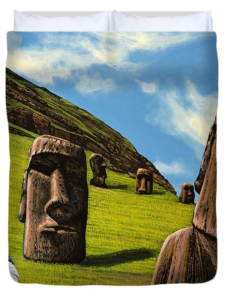Chile Easter Island Duvet Cover