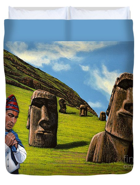 Chile Easter Island Duvet Cover