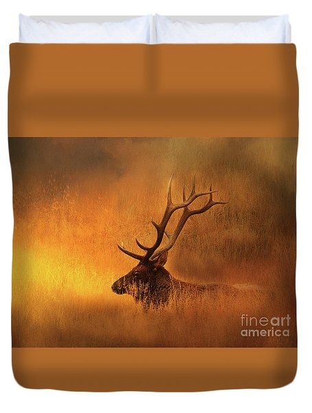 Chillin' Elk Duvet Cover