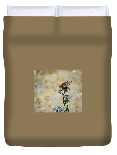 Duvet Cover featuring the photograph Chillin' In Color by T Brian Jones