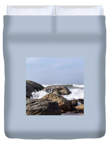 Three Oceans Meet Duvet Cover