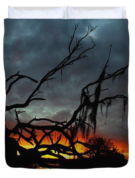 Chilling Sunset Duvet Cover