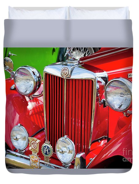 Duvet Cover featuring the photograph Chillipepper 1952 Mg by Chris Dutton