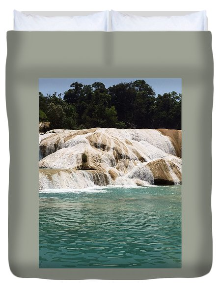 Chilon Waterfall. Duvet Cover