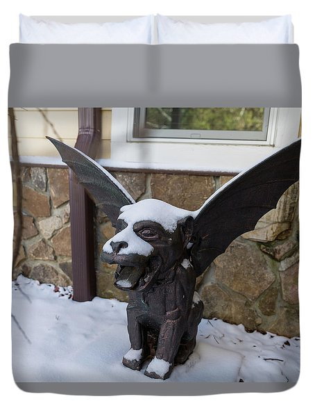 Chimera In The Snow Duvet Cover