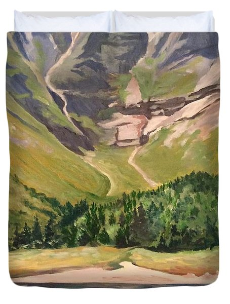 Chimney Pond At Katahdin Basin Duvet Cover