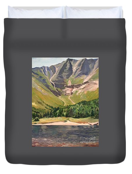 Chimney Pond At Katahdin Basin Duvet Cover