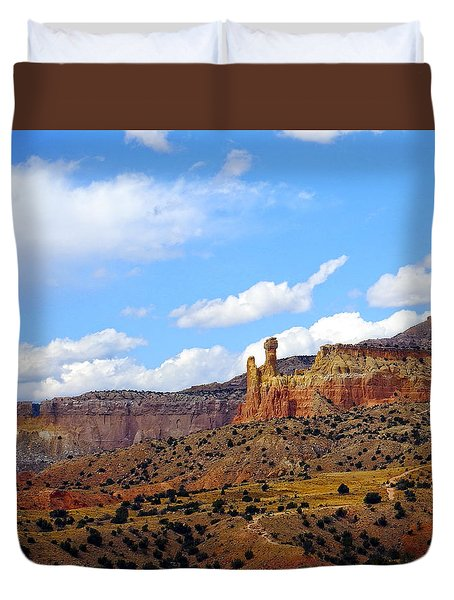 Chimney Rock Ghost Ranch New Mexico Duvet Cover