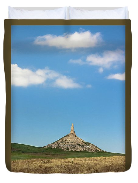 Chimney Rock Nebraska Duvet Cover
