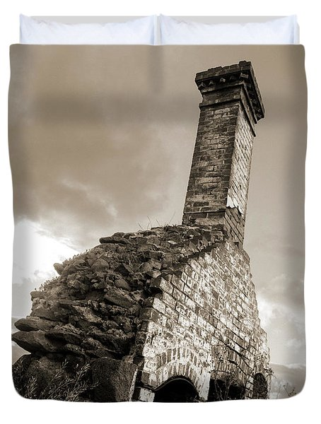 Chimney Ruins Duvet Cover