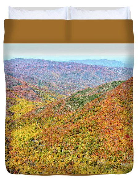Chimney Tops Summit I Duvet Cover