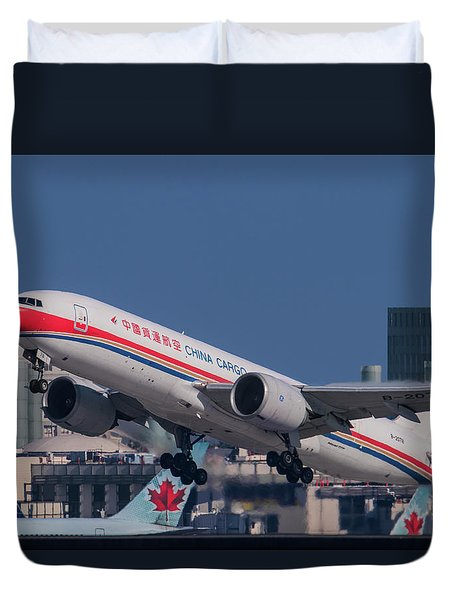 China Cargo Airlines Boeing 777f Duvet Cover