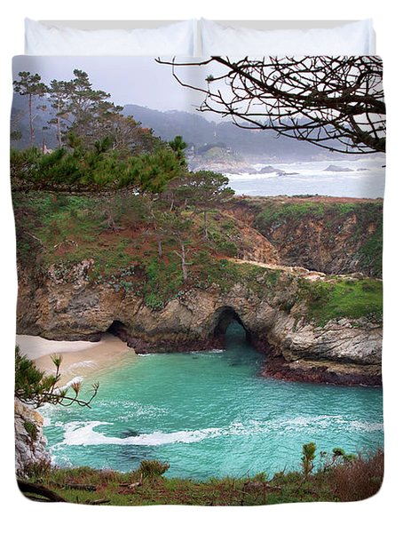 China Cove At Point Lobos Duvet Cover