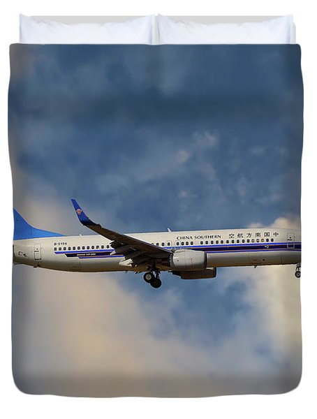 China Southern Airlines Boeing 737-81q Duvet Cover