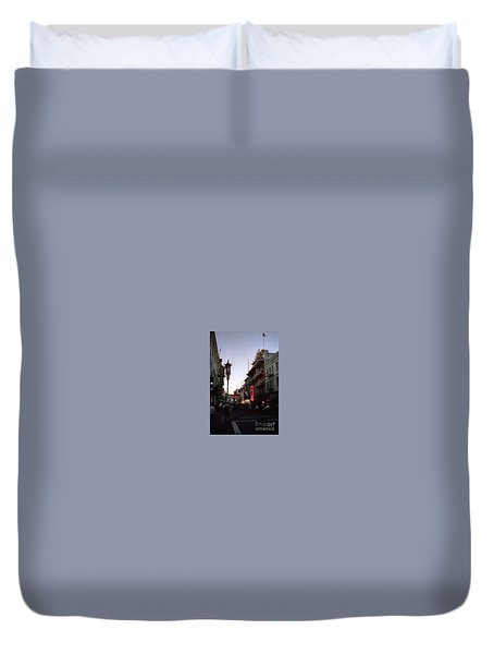 China Town San Francisco  Duvet Cover