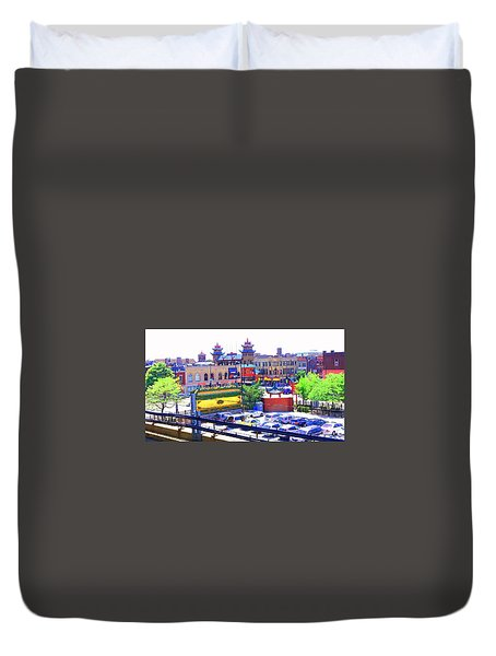 Chinatown Chicago 1 Duvet Cover by Marianne Dow