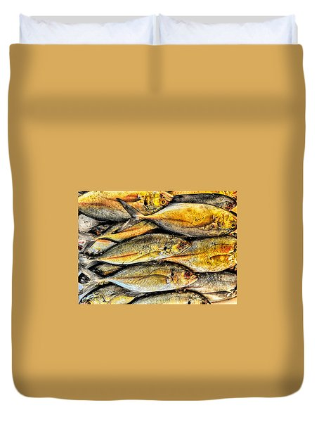Chinatown Fish Market Nyc Duvet Cover by Steve Archbold
