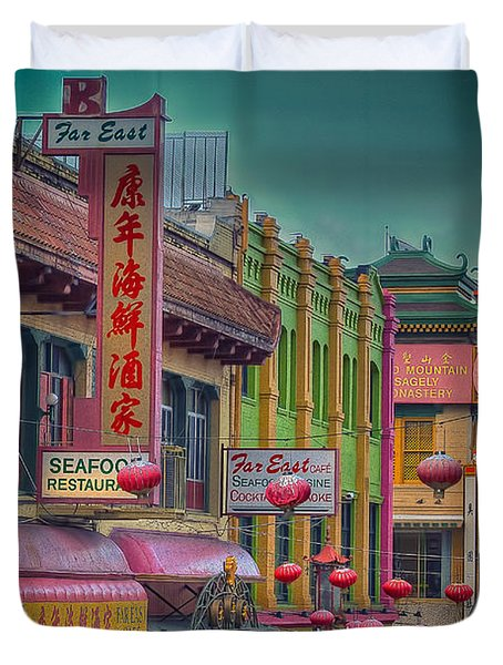 Chinatown Duvet Cover