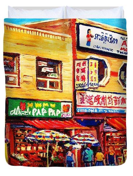 Chinatown Markets Duvet Cover by Carole Spandau