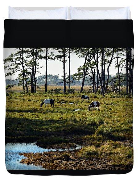 Chincoteague Ponies Duvet Cover