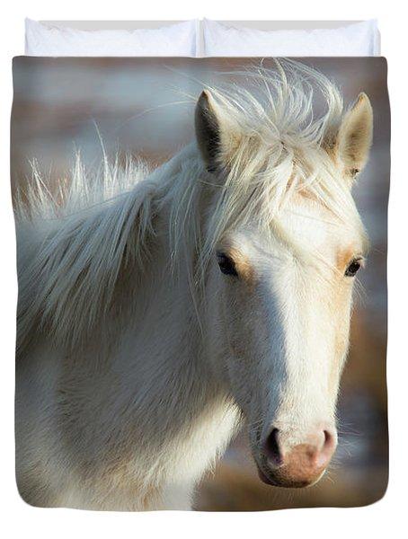 Chincoteague White Pony Duvet Cover