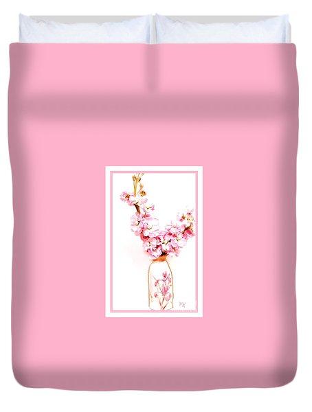 Duvet Cover featuring the digital art Chinese Bouquet by Marsha Heiken