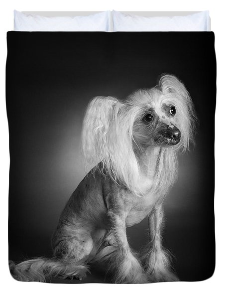 Chinese Crested - 03 Duvet Cover by Larry Carr
