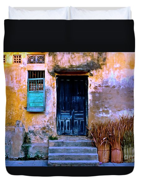 Chinese Facade Of Hoi An In Vietnam Duvet Cover