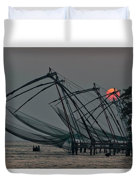 Chinese Fishing Nets, Cochin Duvet Cover by Marion Galt
