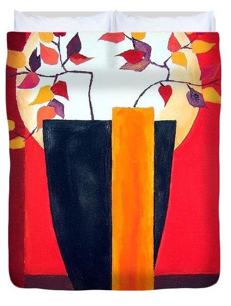 Chinese Flower On Vase Duvet Cover